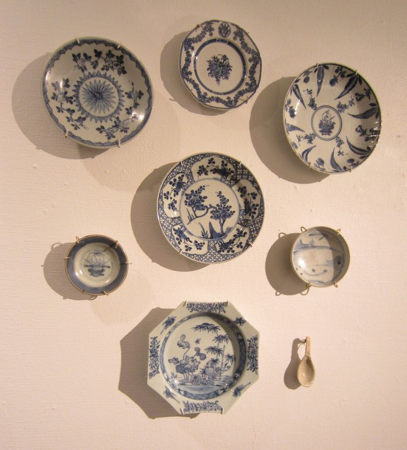 Selection of underglaze blue and white