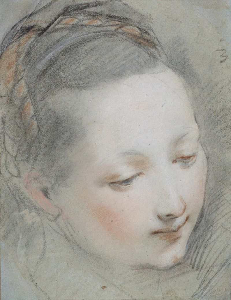 04_Study for the Head of the Virgin Mary for the Annunciation