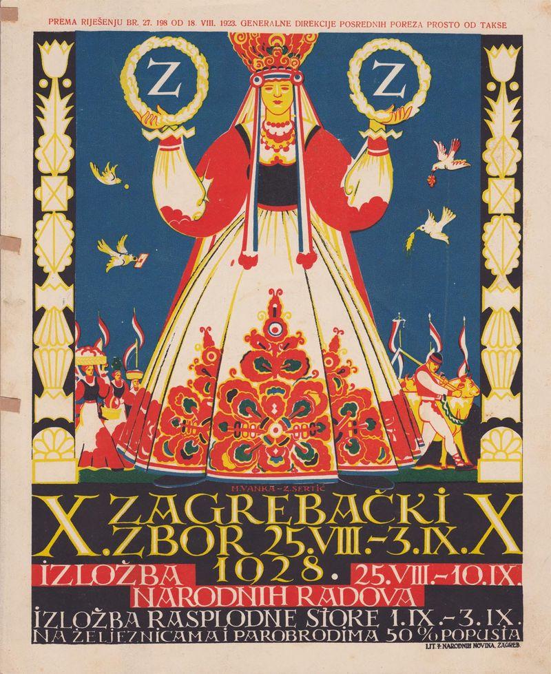 Scrapbook 30 Zagrebački Zbor Poster 1928