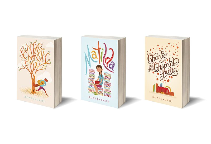Roald Dahl Book Covers-KS